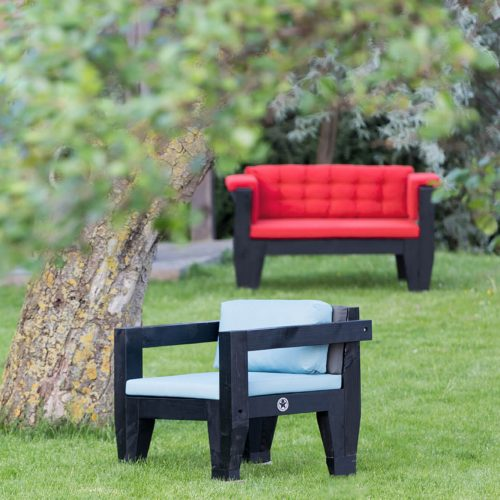 Bolster buitenmeubelen - One seat en Love Seat