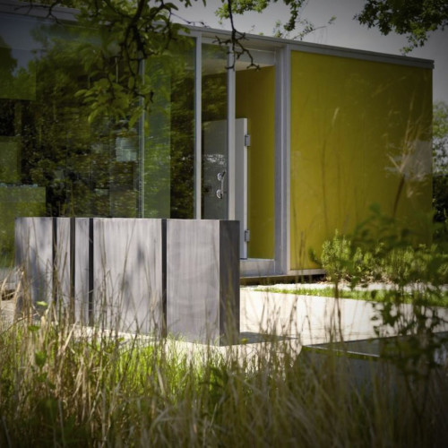 Domani - Zinc rectangular high tuinwand van zink
