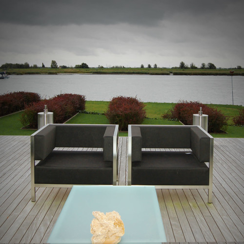 Mood 2x Lounge stoelen Shell