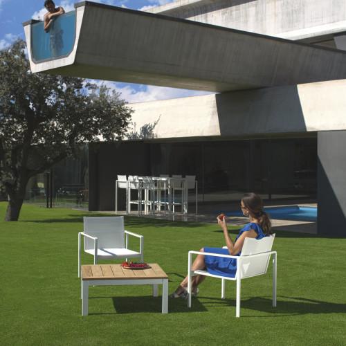 Royal Botania Alura lage fauteuil met tafel