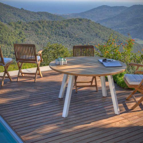 Royal Botania Dining set - Del Rey stoel met Discus tafel