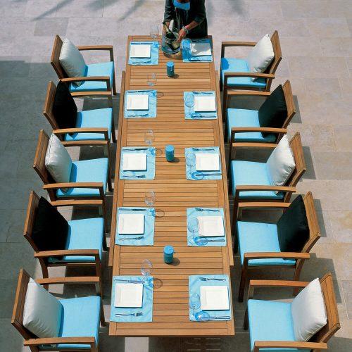 Royal Botania IXIT Dining set Ruime tuintafel met stoelen