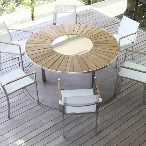 Royal Botania O-Zon Wood tafel stoelen