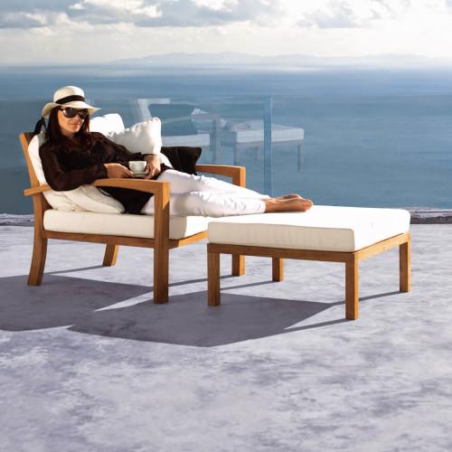 Royal Botania Solid Loungestoel met voetensteun