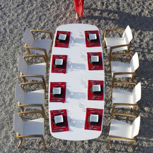Royal Botania Zidiztafel met stolen vanaf boven licht