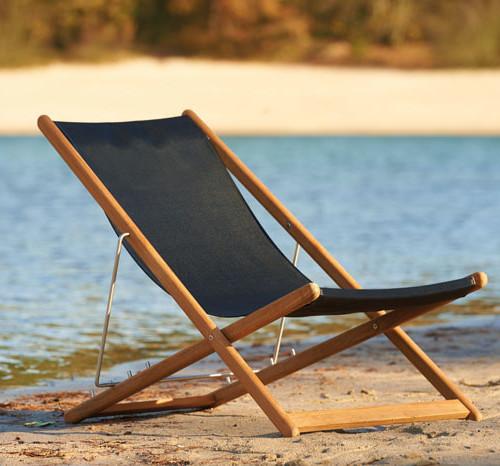 Traditional Teak Kate Relax - Lounge stoel met batyline