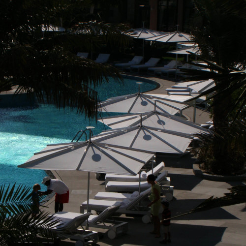Umbrosa Infina Aquare - de vierkante parasol van de Infina serie