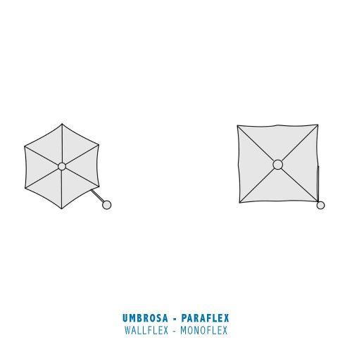 Umbrosa - Paraflex - Wallflex Monoflex Round en Square