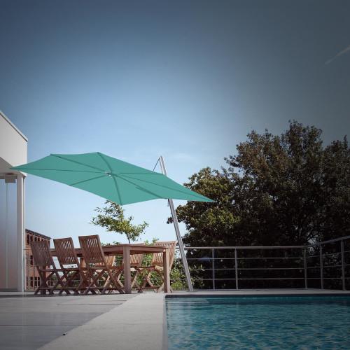 Umbrosa Spectra Square - een parasol die horizontaal dicht gaat