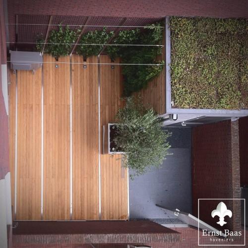 Kleine patio in de binnenstad van Gouda