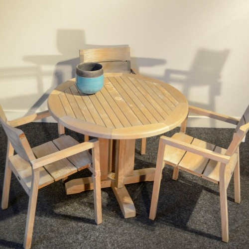 Outlet Demo - Traditional Teak - Willam tafel - incl 3 stoelen top 1x1
