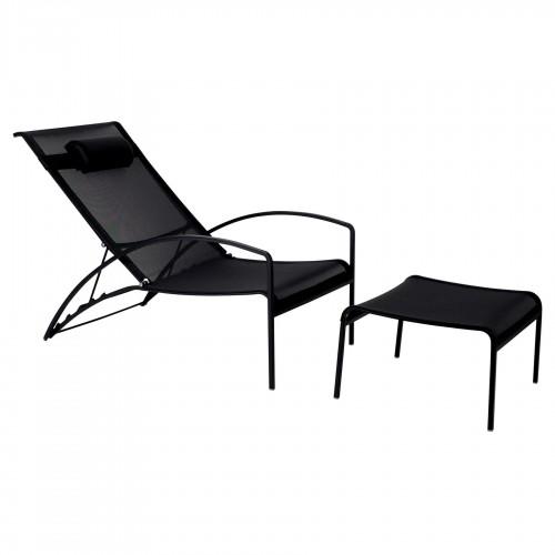 Loungebedden Loungebed - Royal Botania - QT Relax Chair - Gehele zwarte uitgevoerd