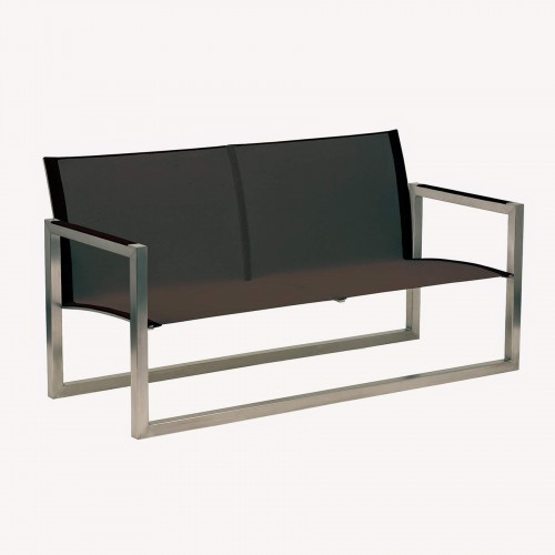 Tuinbanken Tuinbank - Royal Botania Ninix bench - RVS en zwart bayline