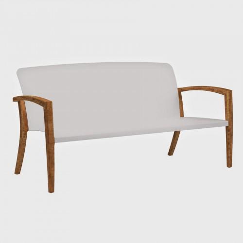 Tuinbanken Tuinbank - Royal Botania Zidiz bench - Teakhout en Aluminium gecoat