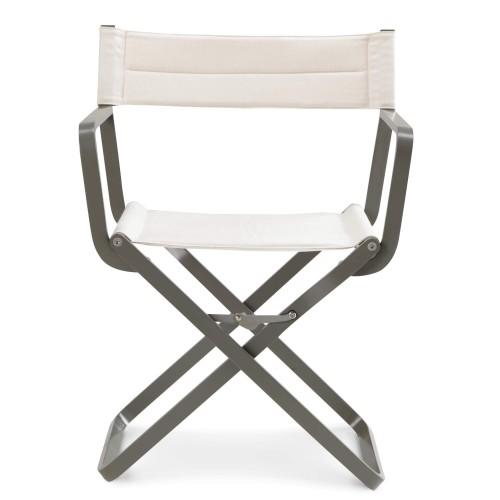 Ethimo - Studios - Inklapbare buitenstoel - Aluminium tuinstoel - Stoel met design uit de filmindustrie - Design regisseursstoel