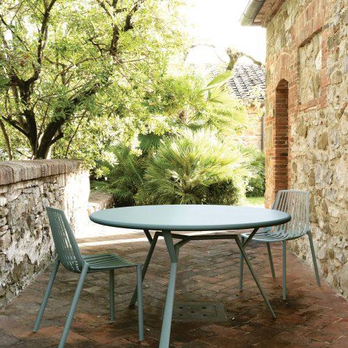 Fast - Tuinset - Tafel Radice Quadra D130 cm met Fast Rion stoel