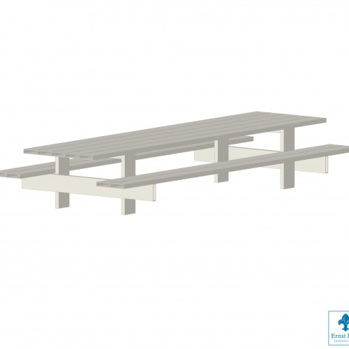LOFDesign - TABLE 13AL PICKNICK - Picknicktafel van aluminium