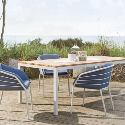 Solpuri Classic Alu - Aluminium tafel met teakhouten top