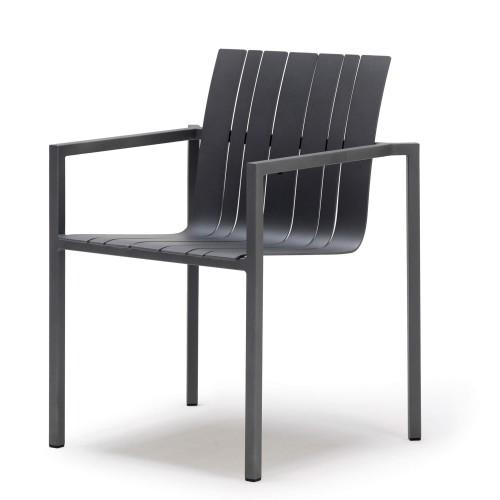 Solpuri - Pure Alu - Dining stoel - Stapelbare buitenstoel - Aluminium Antraciet