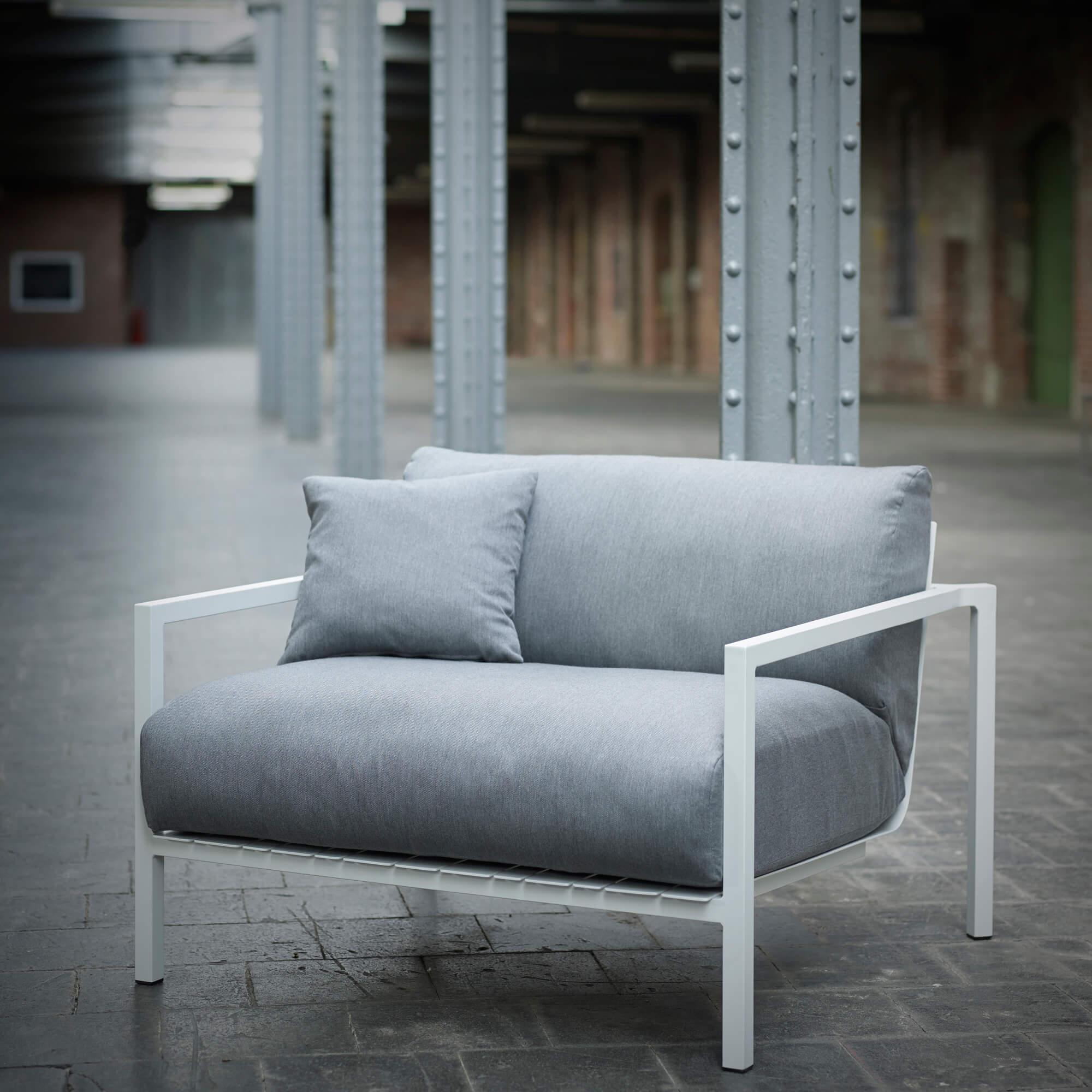Solpuri - Pure Alu - Loungestoel - Wit aluminium