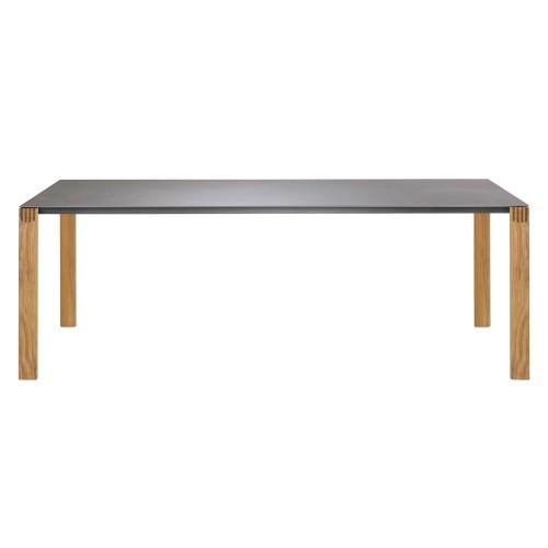 Solpuri Safari - Eet tafel met teakhouten frame en keramiek tafelblad - Tuintafel in diverse afmeting