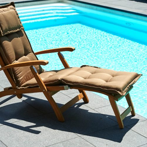 Traditional Teak - Alexandra deckchair - Teakhouten loungebed of loungestoel