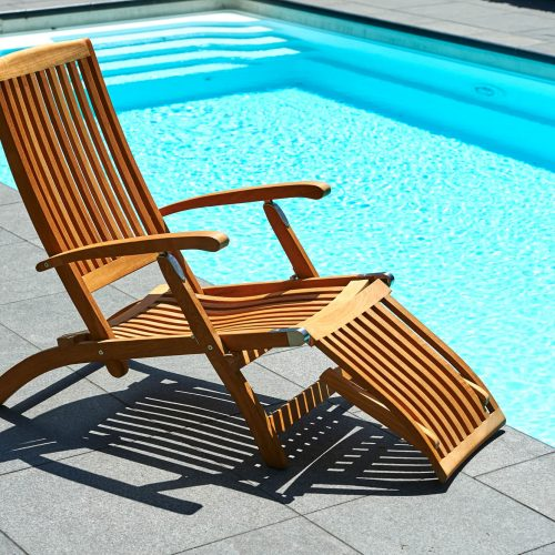 Traditional Teak - Alexandra deckchair - Teakhouten loungebed of loungestoel voor buiten