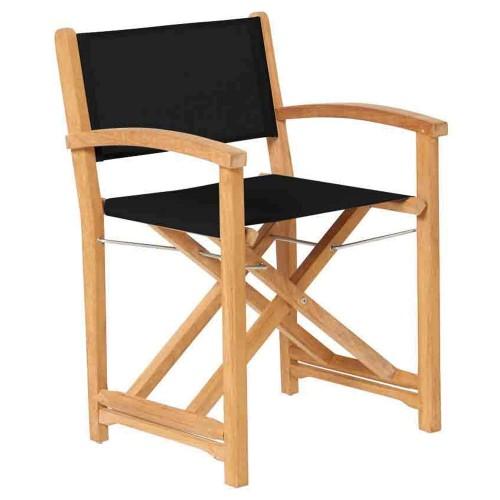 Traditional Teak - Kate director chair - Inklapbare buitenstoel  - Design regisseursstoel van teakhout