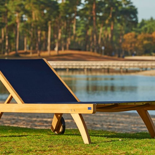 Traditional Teak - Kate lounger - Teakhouten loungebed met textilene
