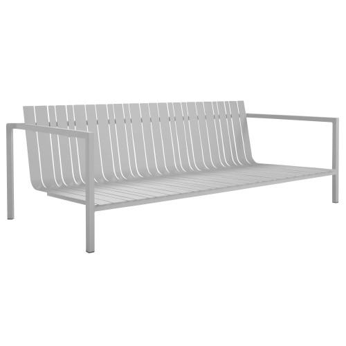 Tuinbank - Solpuri - Pure Alu - Loungebank met aluminium frame - Winterbeeld als de kussens er uit zijn