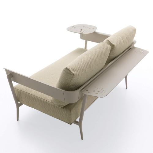 luxe Tuinbank-van-Fast-Aikana-Aluminium-tweezitsbank-met-Aikana-Small-table