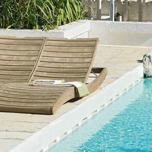 Tuinbedden - Ethimo - Sahara - Double sun lounger - lux ligbed bij het zwembad - Zonnen aan het zwembad