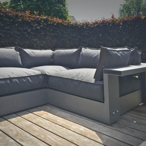 LOFDesign - 13AL Corner - Loungeset in Reeuwijk met plantenbakken van Domani