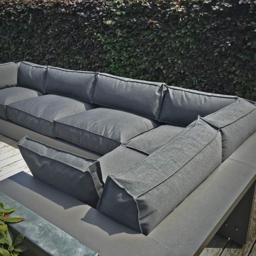 LOFDesign - 13AL loungehoek - Aluminium frame antraciet - Sunbrella New Marine Graphite