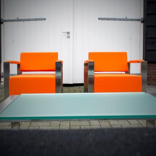 MOOD - Pingo fauteuils NIEUW in oranje Sunbrella stof