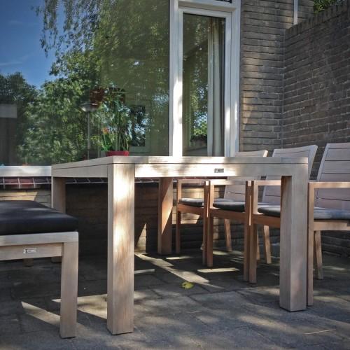 Teakhouten tuinset gecombineerd in Leiden - Luxe tuinmeubels Leiden