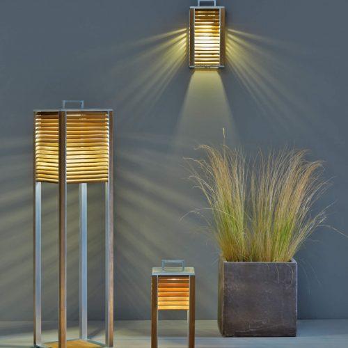 Ethimo - Ginger - Buitenverlichting serie - LED buitenverlichting van Aluminium met teak hout