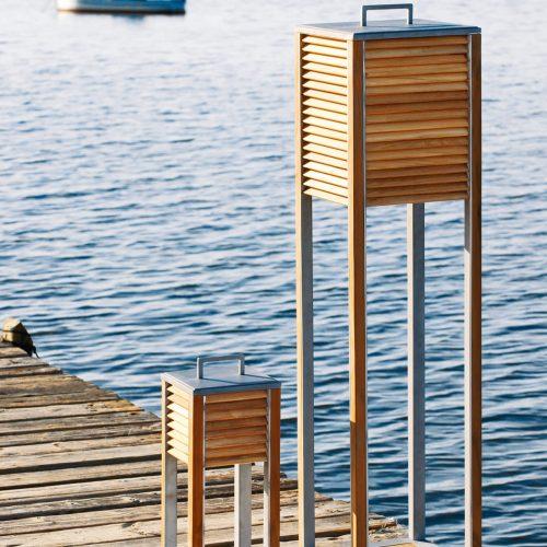 Ethimo - Ginger - Exclusieve buitenverlichting - Tafel lamp en staanlamp voor terras of balkon