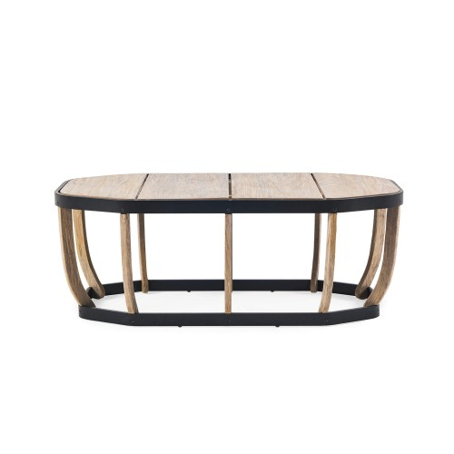 Ethimo - Swing - Large coffee table - Pickled teak met zwarte band