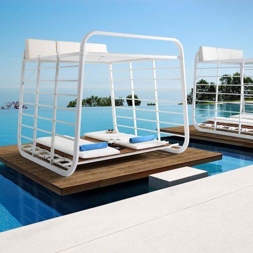 Cabana - Buitenverblijf aan zwembad of jacuzzi