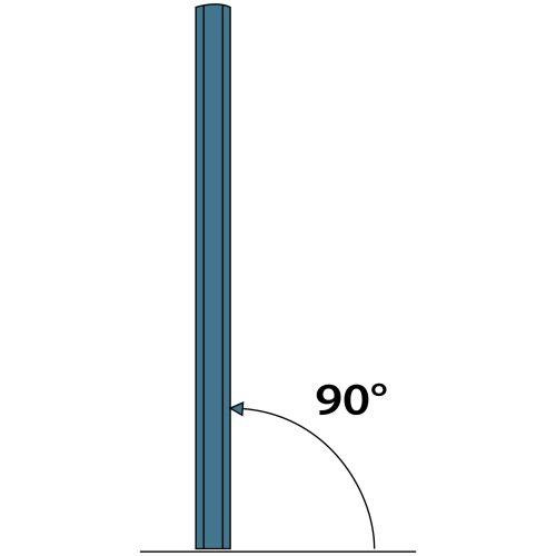 Grondbevestiging voor schaduwdoek met Aluminium paal - hoek 90 graden