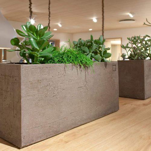 Atelier Vierkant - BRL - Grey Rechthoekige planter