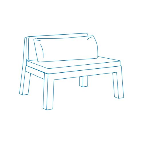 Sketch   Piet Boon Outdoor   NIEK loveseat