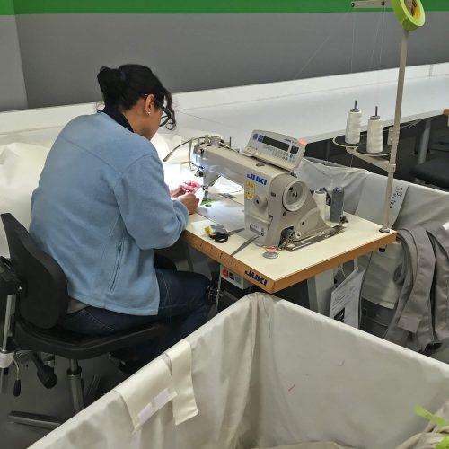 Maken van het doek voor de Legno