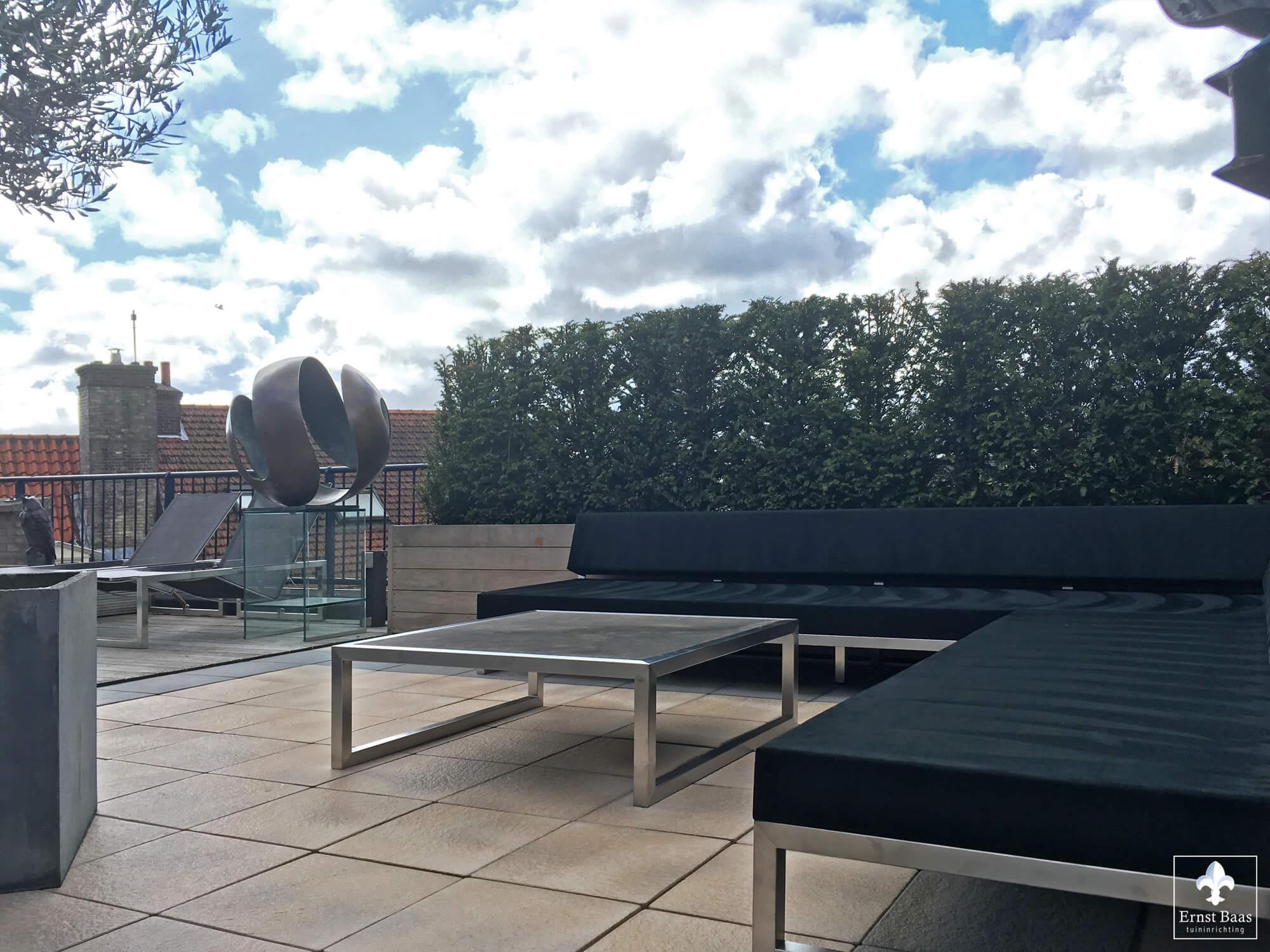 Luxe tuin tuin outdoor diepe zitplaatsen lounge teak tuinmeubilair