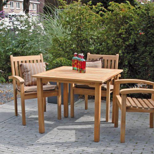 Maxima tafel - Vierkante teaktafel - Traditional Teak