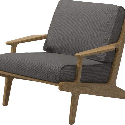 Bay lounge chair van Gloster - Uitgevoerd in Granite stof