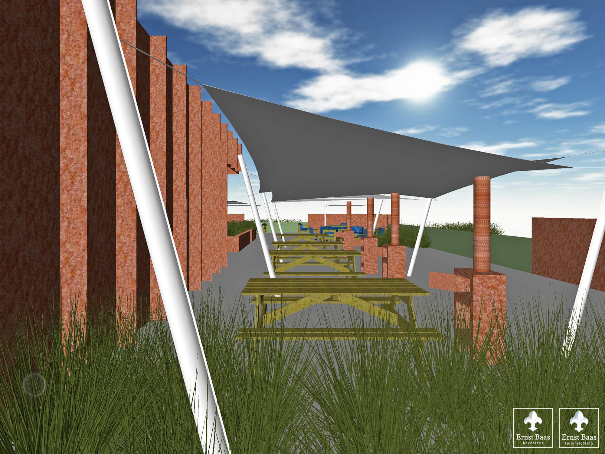 Impressie - Picknick hoek met Outdooroven van Weltevree