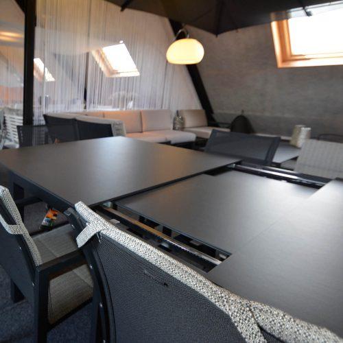 Uitschuifbare Taboela tafel van 6 naar 10 personen tafel