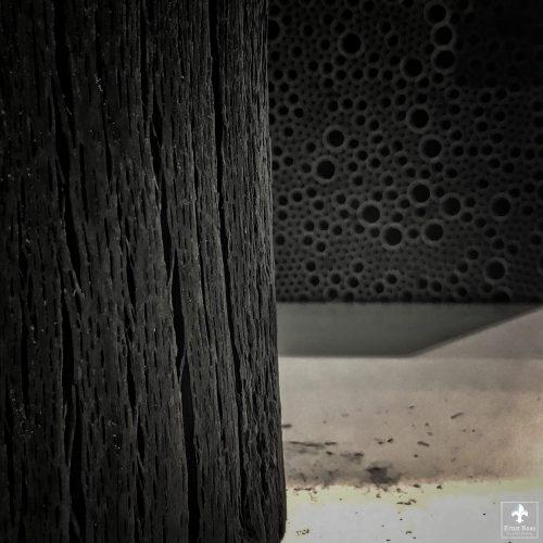 Houtskool structuur - Antraciet zitelementen